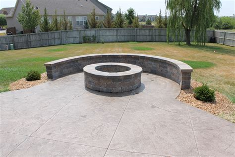 sted concrete patio backyard ideas rustic