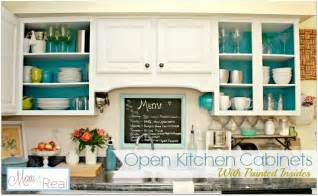 Kitchen Cabinet Ideas Small Kitchens Open Cabinets With White Aqua Lime Green Amp Silver