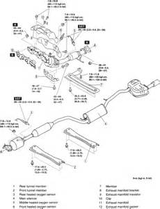 2004 Mazda 6 Exhaust System Diagram Mazda 3 How To Replace The Catalytic Converter On A 2004