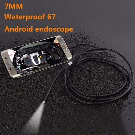 Bnd196 Android Endoscope 720p Ip67 Waterproof Kecil Mini Kabel android 7mm 4cm focal distance endoscope 720p 3 5m