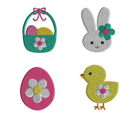 design embroidery mini mini easter machine embroidery design set instant download