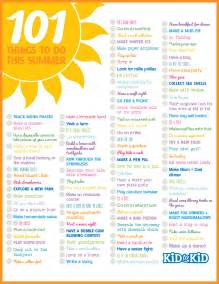 101 things to do this summer kid to kid