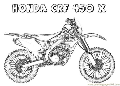 crf on line honda crf coloring page free bikes coloring pages