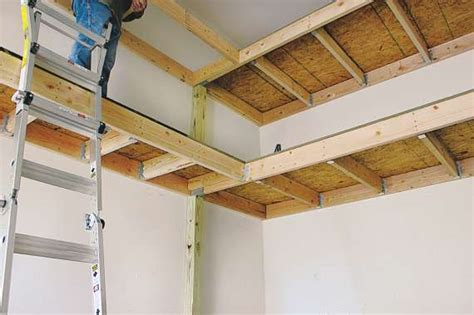 how to build hanging garage shelves
