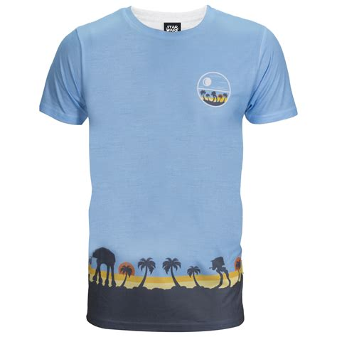 cgv star wars merchandise star wars rogue one men s death star palm tree t shirt