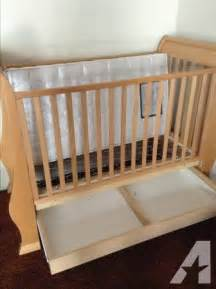 Wooden Crib With Drawers Real Wood Italian Pali Baby Crib With Drawer For Sale In