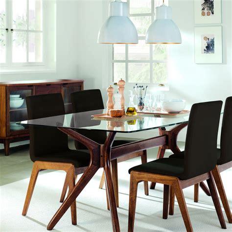mesa de comedor de madera  cristal kyle hogar el