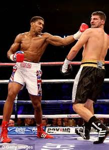 anthony joshua wins on professional debut daily mail online