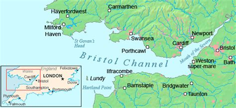 channel map rivers flowing into the bristol channel the isles project