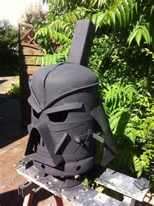 Iron Chiminea Darth Vader Outdoor Wood Stove