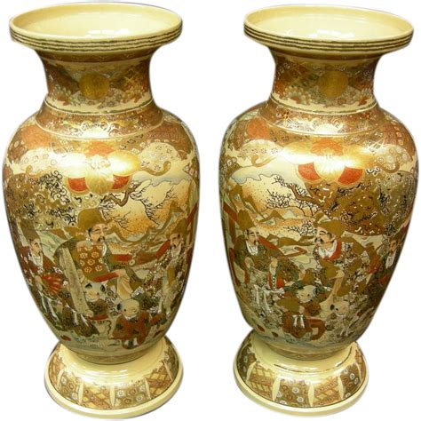 Satsuma Vase by Japanese Satsuma Pair Of Vases From Antiquegal On Ruby