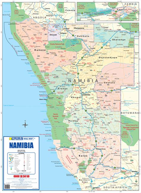 printable road map of namibia maps4africa the world at your fingertips