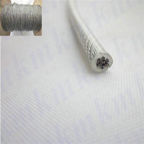 Lantai Vinyl 2 Mm 100rbm 100m roll overall diameter 1 2mm pvc plastic coated stainless steel wire rope 1 0mm wire rope