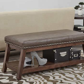 bonded leather storage bench emery bonded leather storage bench