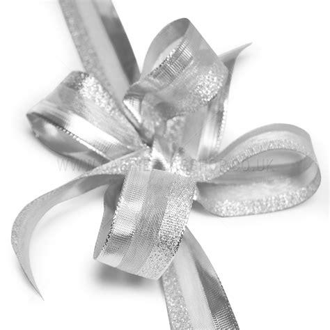 Ribbon Silver silver sheer glitz ribbons from carrier bag shop tone and