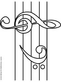 treble amp bass clef coloring page free music