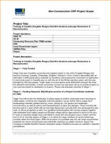 scope statement template 8 project scope statement template writable calendar