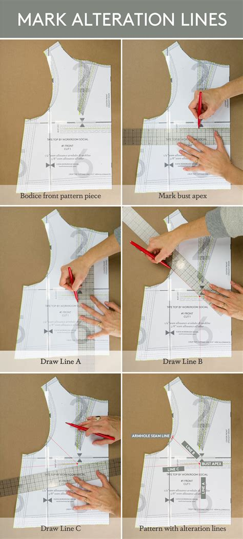 Dress Pattern Without Darts | tutorial how to make a full bust adjustment on a bodice