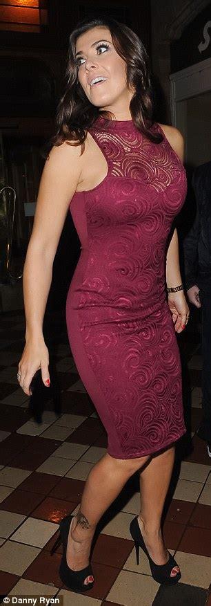 Lash 26mm Dress To Impress kym marsh slips into tight lace dress with