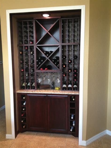 Built In Wine Racks For Kitchen Cabinets Custom Kitchen Wine Cabinet Modern Wine Cellar Dallas By Wineracks