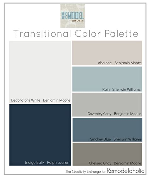 paint schemes remodelaholic transitional paint color palette