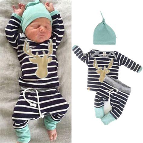 3 Pcs Set Baby Boy Print Clothing Sets Baby Boy Clothing Set 3pcs Baby Clothes Autumn Deer Print Cotton Sleeve Baby Set