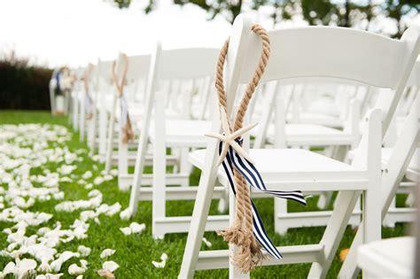 Nautical Wedding, Chair Decor, Wedding Isle, Rope
