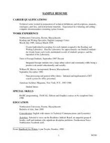 Qualifications Resume Exles by Qualifications For Resume Getessay Biz