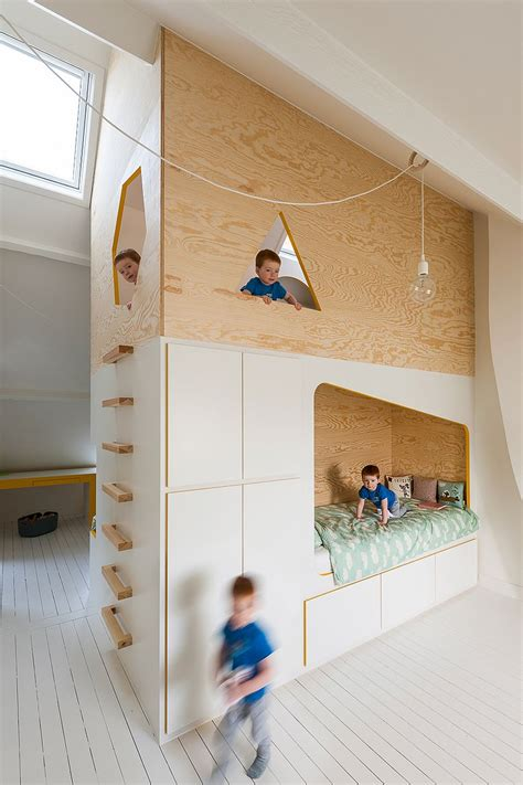 bespoke brilliance twin bed wall  kids room  loft