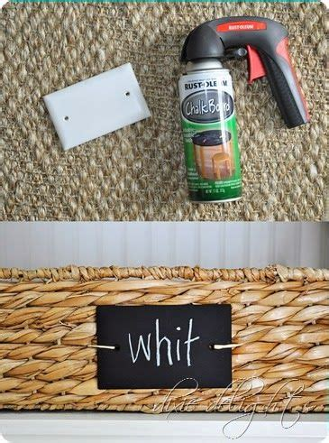 diy chalkboard labels for baskets paint pens gift tags and sprays on