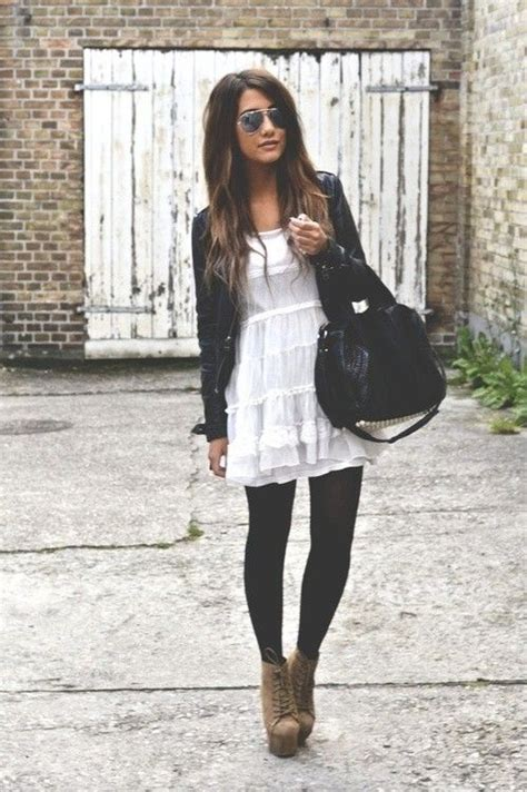 black white dress with tights 30 ways to make black and white work for you stylish