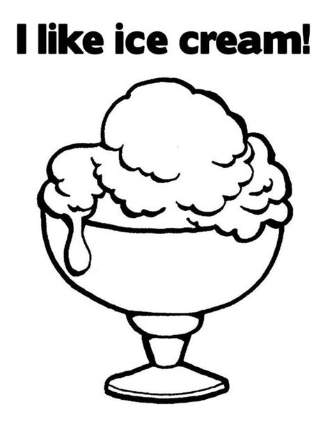 ice cream dish coloring page ice cream dish page coloring pages