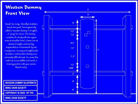 How To Assemble A Dummy 5 Wing Chun Dummy Blueprints Everything Wing Chun 174