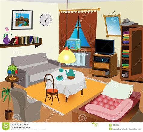 living room clip room interior stock vector illustration of curtain modern 10748981
