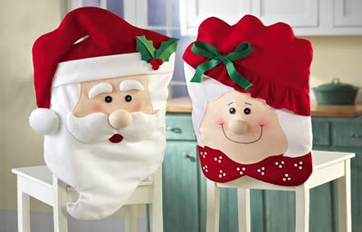 Mrs Santa Claus Chair Covers mr mrs santa claus kitchen chair covers from