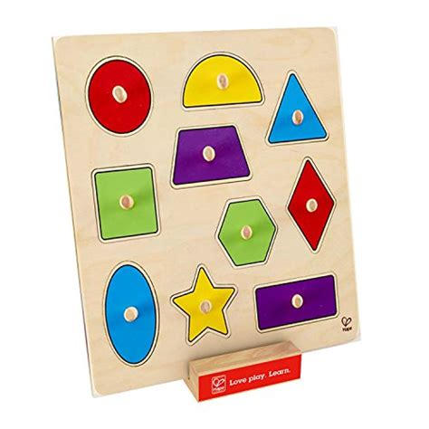 Puzzle Knob Angka Arab Type A hape geometric shapes wooden toddler knob puzzle toys