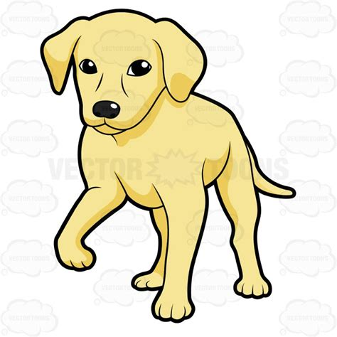 how to clip a golden retriever clipart golden retriever puppy standing with one paw the ground
