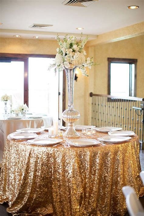 best 25 sequin tablecloth ideas on gold