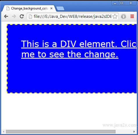 javascript on layout change change background color in javascript