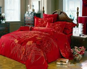 Red Duvet Sets King Size 3d Red Floral Comforter Bedding Set King Size Queen