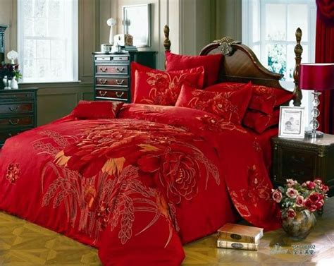 king size red comforter 3d red floral comforter bedding set king size queen