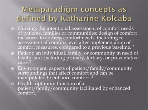 comfort devices in nursing ppt ppt katharine kolcaba powerpoint presentation id 2537743
