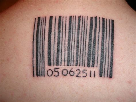 barcode tattoo pictures ink