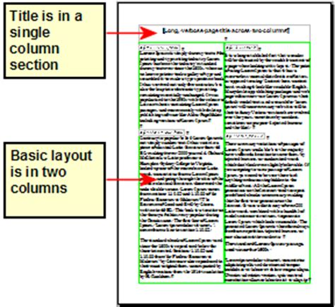 two column template word formatting pages apache openoffice wiki