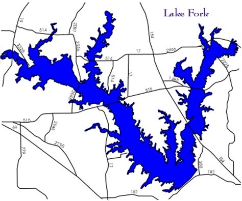 map of lake fork texas lake fork fishing information