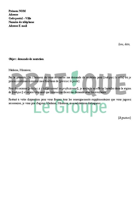 Lettre Type Demande De Prolongation De Visa Preview