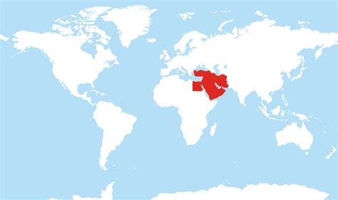 middle east highlighted map where is middle east located on the world map