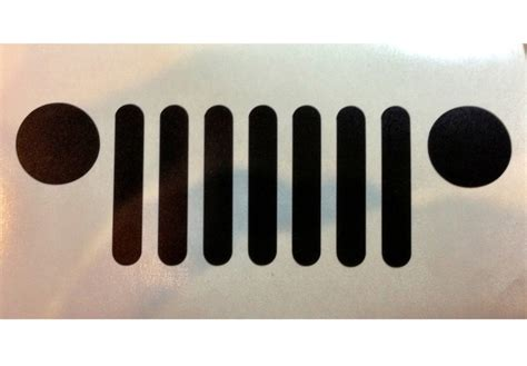 jeep grill sticker jeep grille car decal vinyl