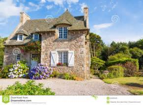 French Country Cottage Plans french brittany typical house royalty free stock photo