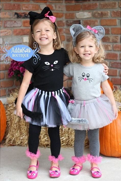 Coordinating For Siblings - coordinating sibling costumes cat and mouse
